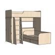 Кровать-чердак с нижней кроватью Орбита 9